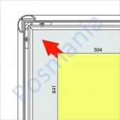 Рамка-клик из анодированного алюминиевого профиля с защелкивающимся механизмом