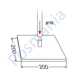 Квадратная подставка под трубку (стальная)