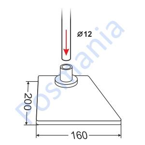 Подставка для трубки (металл) прямоугольная