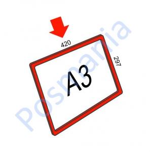 Рамка А6 пластиковая (цветная