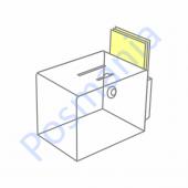 Прозрачный ящик для пожертвований или анкет с держателем буклетов