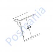 Ценникодержатель полочный для стеклянных полок