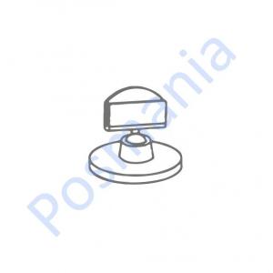Ценникодержатель на прозрачной круглой подставке