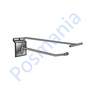Крючок металлический на экономпанель с ценникодержателем