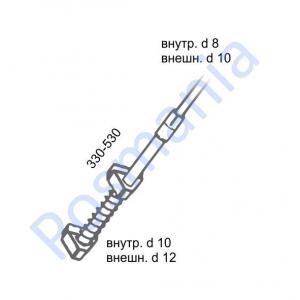Трубка телескопическая для крепления рамок на сетчатые тележки