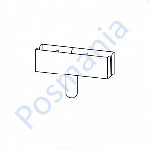 Т-держатель картонной таблички или плаката на трубку