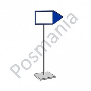 Стойка-указатель информационная односторонняя с рамкой А4
