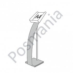 Стойка 'Парус' для печатной продукции с лотком А4
